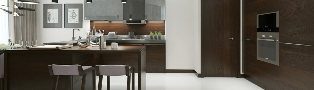 Kitchen contemporary style. 3d visualization